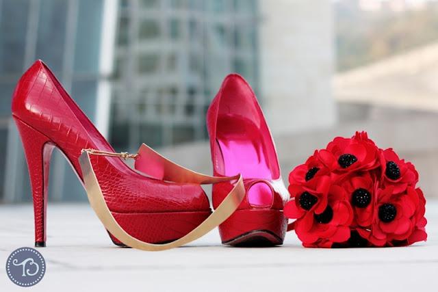 Ramos y zapatos de novia