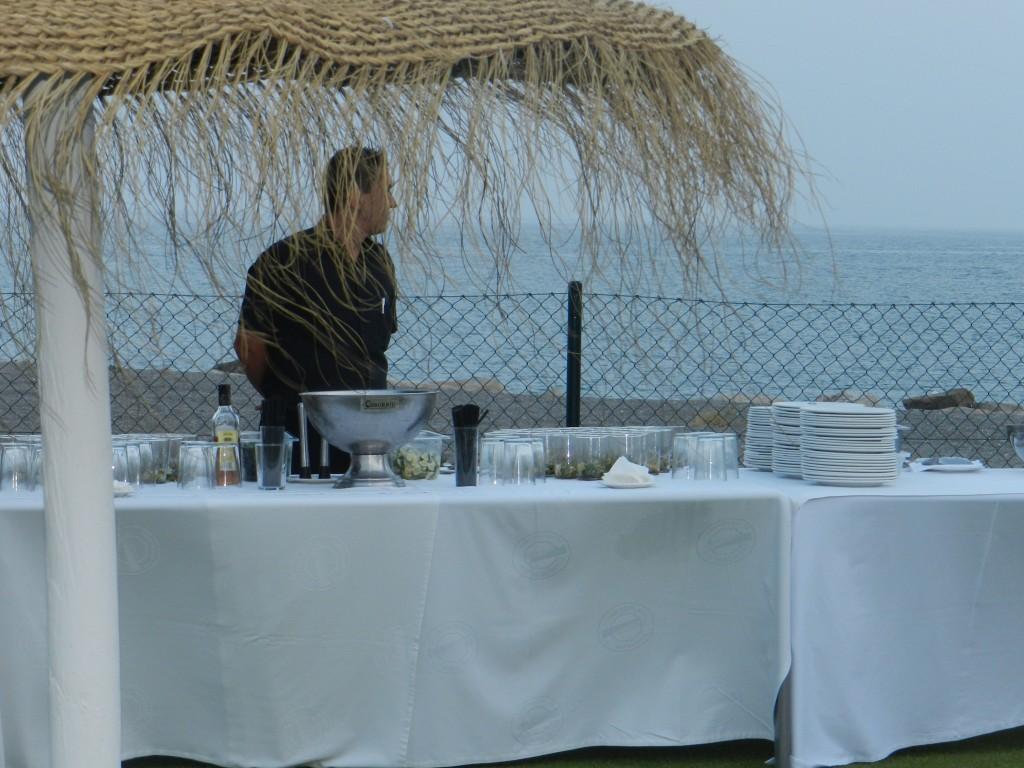 La recepción de la boda en la playa