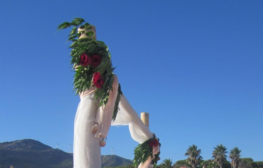 Arco-Cuadrado de bodas, para ceremonia civil en Tarifa