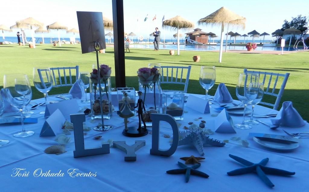 Mesa presidencial de banquete de bodas