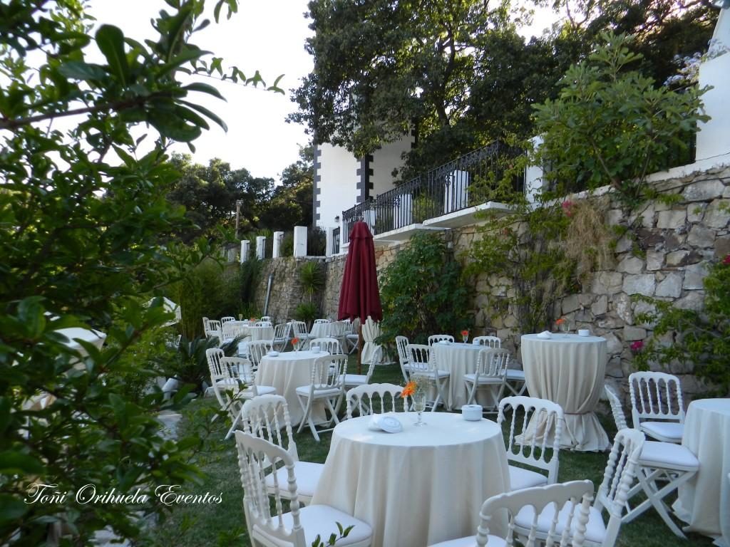 Banquete de bodas en el exterior