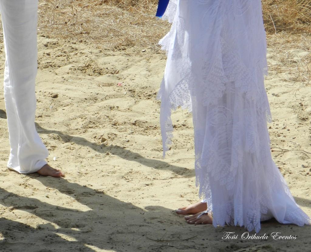 Boda en la arena de la playa