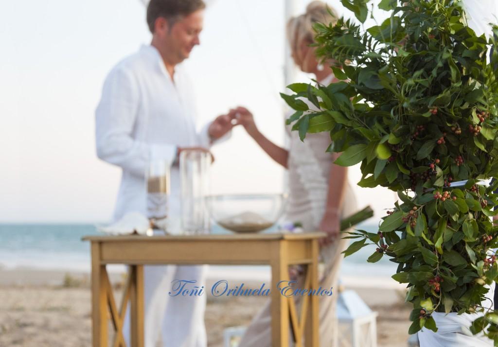 Boda en las playas de costa Ballena