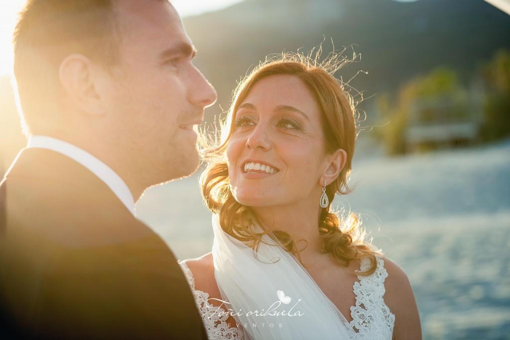 La novia, en la ceremonia civil
